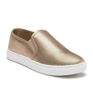 Steve Madden Zach Perforated Slip-On Sneakers Gold